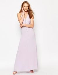 Платье макси с кружевной вставкой Jarlo Siobhan - Сиреневый