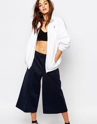 Куртка в стиле летучая мышь adidas Originals by HYKE - Белый