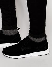 Низкие замшевые кроссовки Farah Quan - Черный
