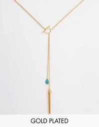 Ожерелье с планкой и камнем Ottoman Hands - Золотой