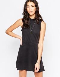 Короткое приталенное платье без рукавов RVCA - Черный
