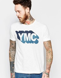 Белая футболка с принтом YMC - Белый
