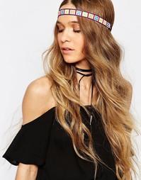 Повязка на голову с вышивкой Reclaimed Vintage - Мульти