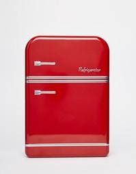 Красная жестяная коробка для завтрака в виде холодильника Temerity Jon