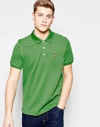 Зеленая футболка‑поло с логотипом в виде орла Lyle & Scott