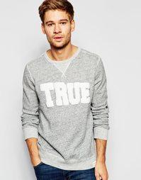 Свитшот с логотипом True Religion True - Серый меланж