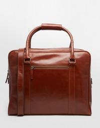Коричневая кожаная сумка Royal RepubliQ Duke - Коричневый