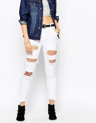 Рваные джинсы бойфренда Pepe Jeans - Белый