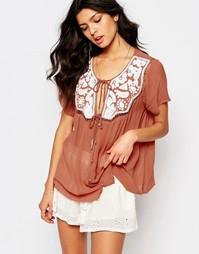Фестивальная блузка с отделкой из пайеток по вороту Somedays Lovin
