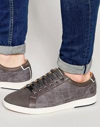 Кроссовки из нубуковой кожи с теснением под крокодиловую кожу Ted Bake