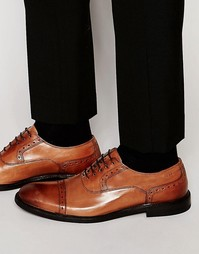 Туфли-оксфорды с отделкой на носке HUGO by Hugo Corbins - Коричневый
