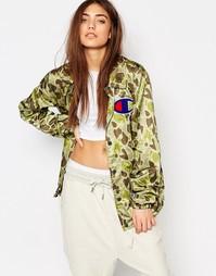 Спортивная куртка с камуфляжным принтом и логотипом сзади Champion