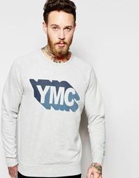 Серый свитшот с логотипом YMC - Серый