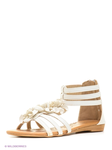 Белые босоножки без каблука