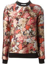 толстовка с цветочной вышивкой Givenchy