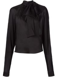 драпированная блузка  Balmain