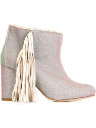 ботинки по щиколотку с бахромой Ouigal