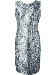 платье с принтом фольги McQ Alexander McQueen