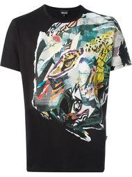 футболка с абстрактным принтом Just Cavalli