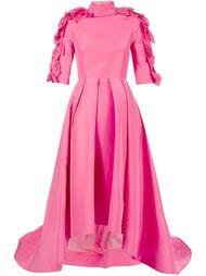 вечернее платье декорированное лепестками Christian Siriano