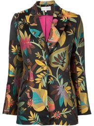 пиджак с вышивкой обезьян Christian Siriano