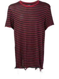 футболка в полоску  Amiri
