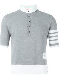 рубашка-поло с полосками на рукаве Thom Browne