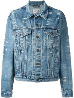 джинсовая куртка с пайетками  Forte Couture