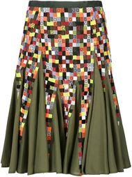 расклешенная юбка с вышивкой Sacai