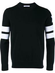 трикотажный свитер с полосками на рукавах Givenchy