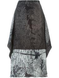 плиссированная юбка А-образного кроя   Issey Miyake