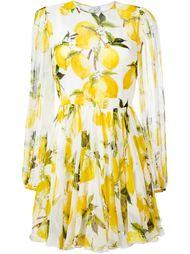 платье с принтом лемонов  Dolce & Gabbana
