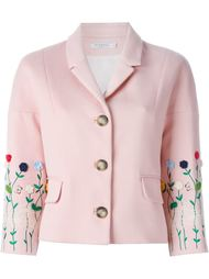 пиджак 'Amelia' с цветочной вышивкой  Vivetta