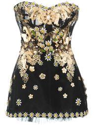 декорированное короткое платье  Dolce & Gabbana