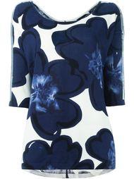свитер с цветочным рисунком и пайетками Twin-Set