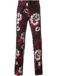 жаккардовые брюки с цветочным узором  Christian Pellizzari