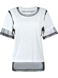 футболка с прозрачными вставками  Maison Margiela