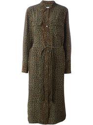 платье-рубашка с леопардовым принтом Equipment