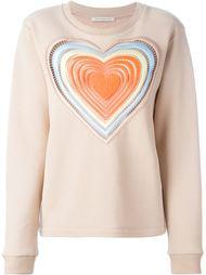 свитер с вышитым сердцем Christopher Kane