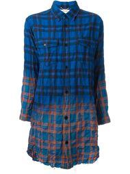 длинная рубашка с градиентным эффектом Saint Laurent