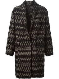 пальто с зигзагообразным узором  Isabel Marant