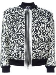 жаккардовая куртка-бомбер с цветочным принтом Emanuel Ungaro