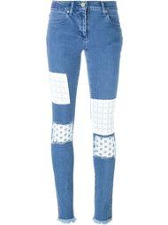 джинсы кроя скинни в стиле пэчворк  House Of Holland
