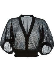 укороченный сетчатый кардиган  Givenchy