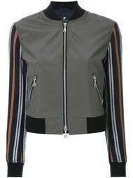 Куртка-бомбер с полосками на рукавах Loveless