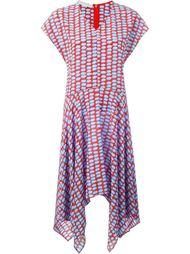 асимметричное платье с мелким узором Stella McCartney