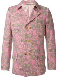 двубортный пиджак с геометрическим принтом Comme Des Garçons Vintage