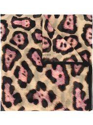 шарф с леопардовым принтом Givenchy