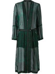 прозрачное пальто на молнии Ann Demeulemeester