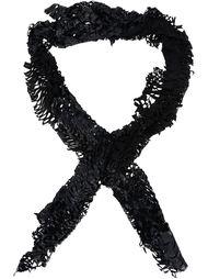 кожаный шарф с лазерной обработкой Cutuli Cult
